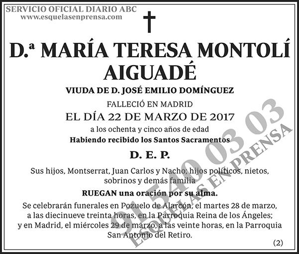 María Teresa Montolí Aiguadé